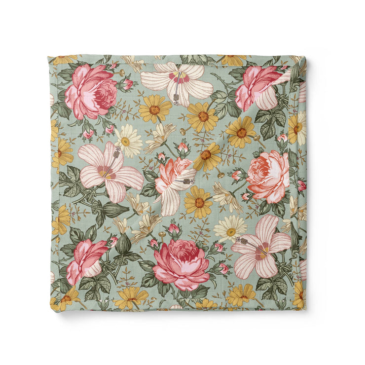 Garden Floral Sea Foam Swaddle