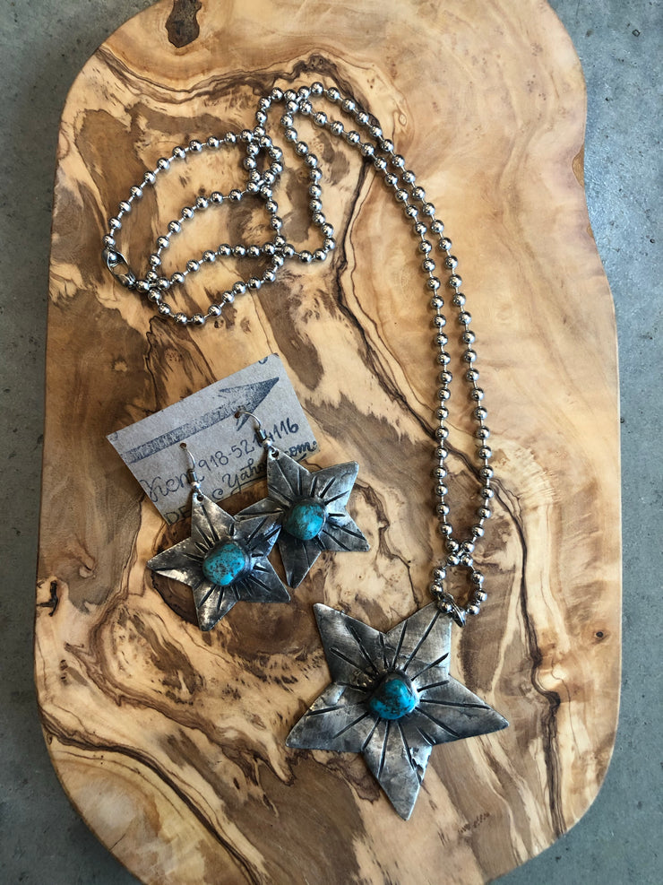 Star and turquoise necklace
