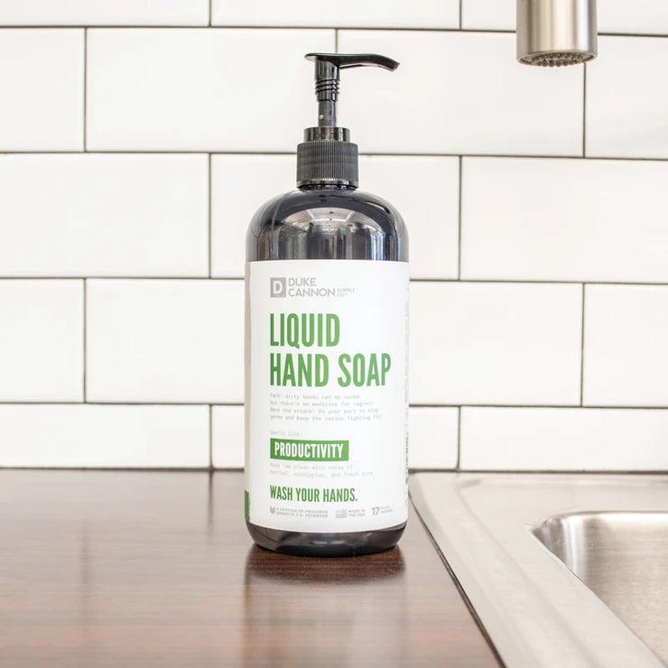 Duke Cannon Liquid Hand Soap Productivity