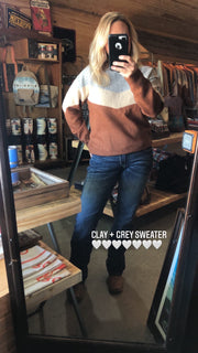 Clay + Grey Sweater