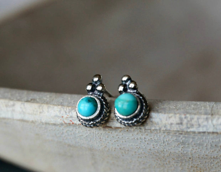 Derya Turquoise Stud Earrings