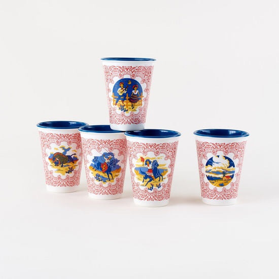 Western Cups-Set of Four