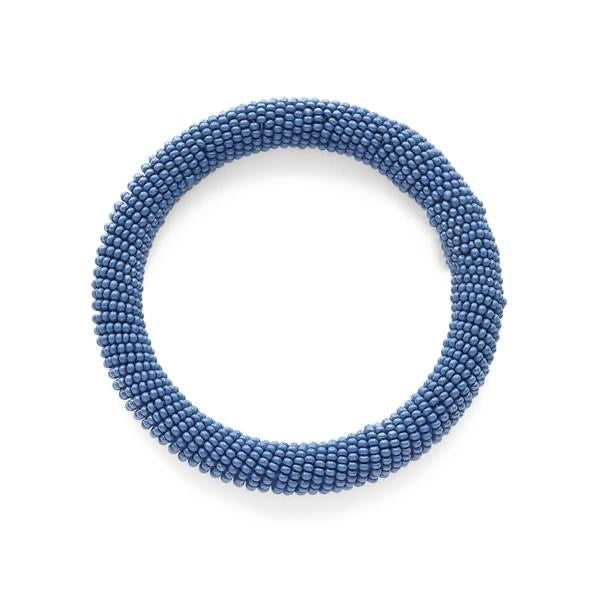 Lapis Seed Bead Bangle