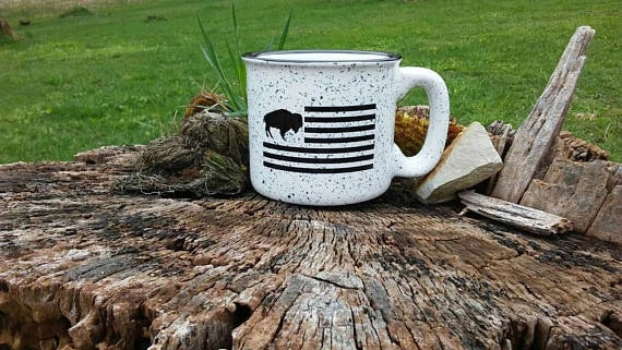 Buffalo Flag White Mug