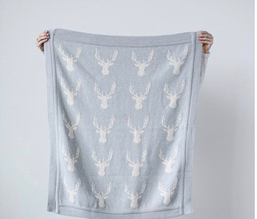 Gray Deer Blanket