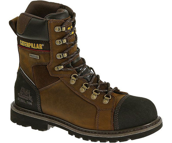 "CAT - Tracklayer 8"" Waterproof Steel Toe Work Boot - Style #90372"