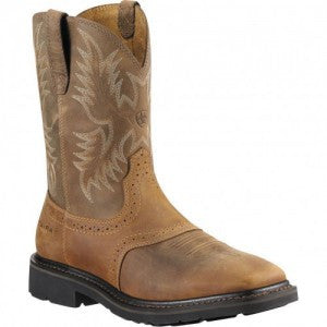 Ariat Sierra Aged Bark Square Toe Steel Toe - Intermountain Safety Shoe