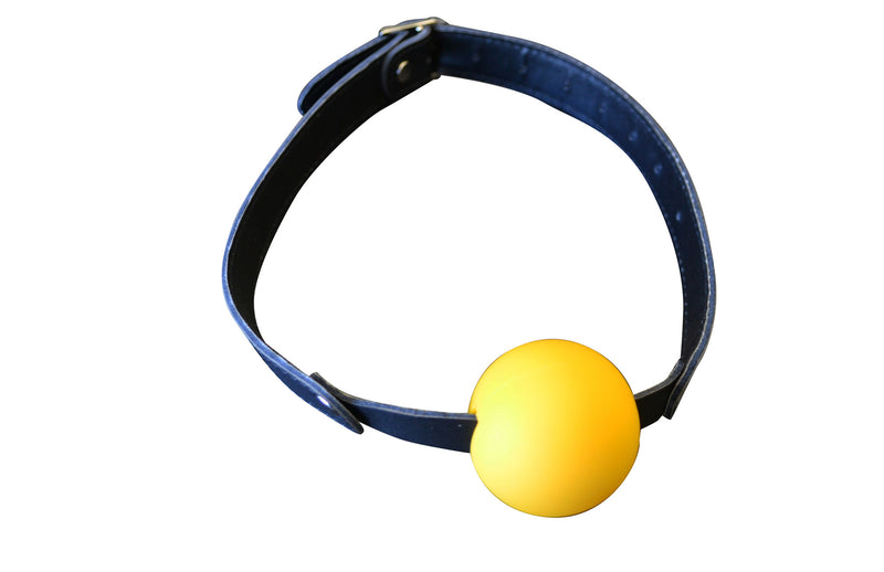 Ball Gag with Leather Strap and Buckle