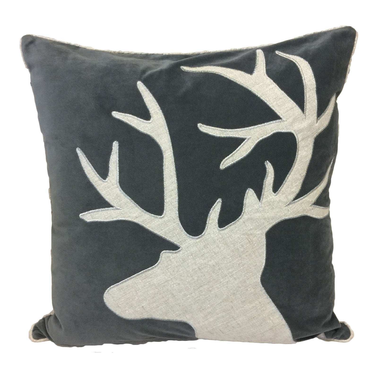 post head fleece pillows deer fun throw pillow