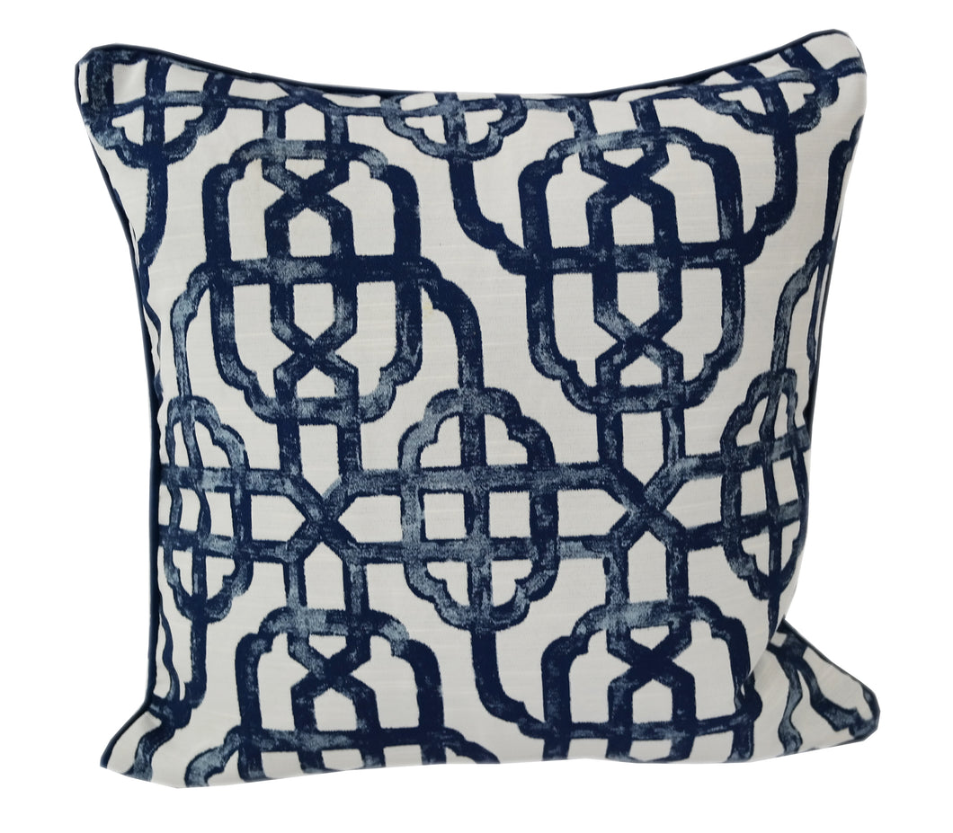 by sapphire garden pillows blue embroidered product home woven overstock pillow shipping today accent throw free