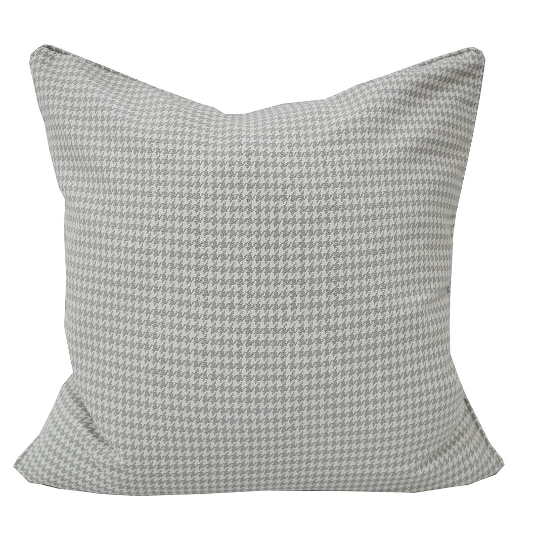 Modern Grey Houndstooth Woven Accent Pillow Home Accent Pillows
