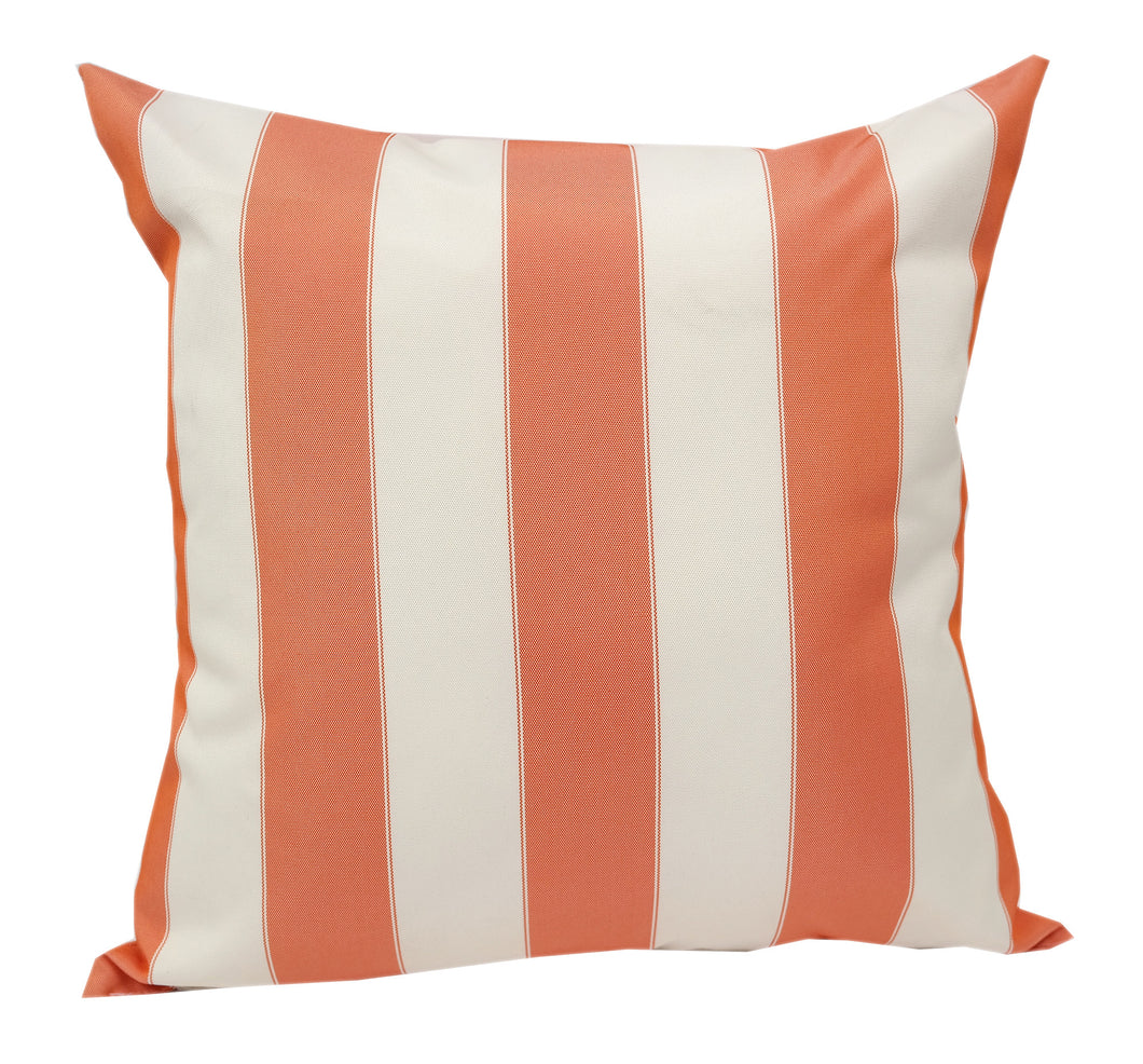 Outdoor Striped Orange and White Throw Pillow Home Accent Pillows