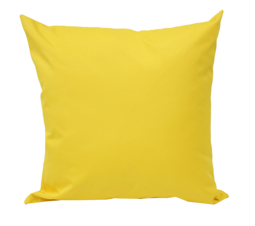 Outdoor Solid Outdoor Yellow Throw Pillow Home Accent Pillows