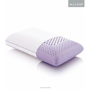 Z ZONED DOUGH Memory Foam Pillow Infused with Real Lavender - Natural Lavender Oil Aromatherapy Pillow Spray Included - King