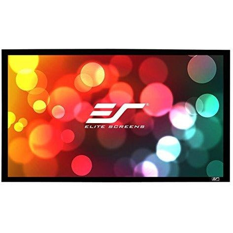 Elite Screens Sable Frame B2, 100-inch Diag. 16:9, Active 3D / 4K Ultra HD Fixed Frame Home Theater Projection Projector Screen Kit, SB100WH2