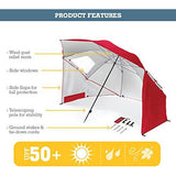 Sport-Brella Portable All-Weather and Sun Umbrella, 8-Foot Canopy, Blue