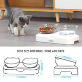 Double Dog Cat Bowls Double Premium PP Pet Bowls No-Spill Pet Water Bowl Slow Water Feeder Dog Bowl No-Slip Pet Water Dispenser 20oz Feeder Bowl for Dogs and Cats