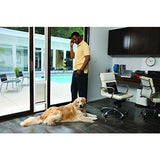 "PetSafe Freedom Aluminum Patio Panel Sliding Glass Dog and Cat Door, Adjustable 76 13/16"" to 81-Inch, Bronze, Large"