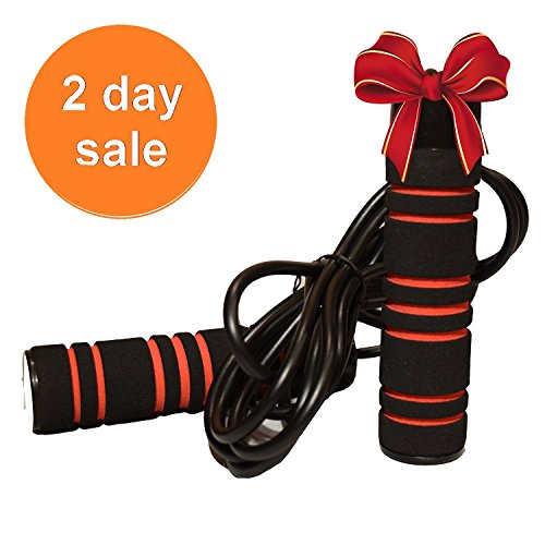 Weighted Jump Rope by Pulse (1LB) with Memory Foam Handles and Weighted Speed Cable - For Crossfit, Boxing and MMA