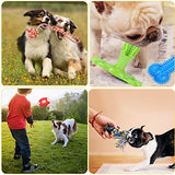 KIPRITII Dog Chew Toys for Aggressive Chewers - 15 Pack Teething Chew Toys for Boredom, Pet Dog Toothbrush Chew Toys with Rope Toys, IQ Ball and More Squeaky Toy for Puppy and Small Dogs