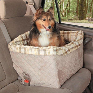 PetSafe Solvit Pet Safety Seat, Deluxe, Up to 30 lb., Dog Booster Seat with Tether for Cars, Trucks and SUVs