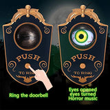 Halloween Decoration, Halloween Doorbell, Haunted Doorbell Animated Eyeball Halloween Decor with Spooky Sounds, Trick or Treat Event for Kids, Haunted House Halloween Party Prop Decoration