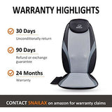 Snailax Shiatsu Massage Cushion with Heat Massage Chair Pad Kneading Back Massager for Home Office Car Seat use SL-256