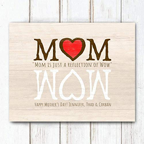 MOM is a reflection of WOW - Mother's Day Personalized Art Gift (11