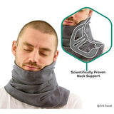 Trtl Pillow - Scientifically Proven Super Soft Neck Support Travel Pillow – Machine Washable Grey.