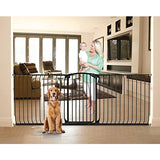 Bindaboo Hallway Pet Gate, Swing Closed, Black, Extra-Tall
