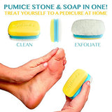 2 in 1 Foot Pumice Stone Foot Scrubber And Callus Remover Cracked Heel Treatment With Lemongrass Moisturizing Foot Soap - My Solemate A Stocking Stuffer Favorite