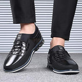 COSIDRAM Men Casual Shoes Slip ons Loafers Sneakers Breathable Comfort Walking Shoes Fashion Driving Shoes Luxury Leather Shoes for Male Business Work Office Dress Outdoor Black 8.5