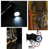 Travel Adjustable Folding Cane for Men and Women w/ Led Light and Cushion Handle