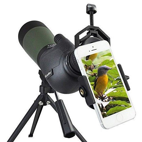 Gosky 20-60X 80 Porro Prism Spotting Scope- Waterproof Scope for Outdoor Activities -with Tripod & Digiscoping Adapter