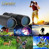 Gosky 10x42 Compact HD Professional Binoculars for Bird Watching, Stargazing, Hunting, Concerts, Sports-BAK4 Prism FMC Lens-With Phone Adapter Strap Carrying Bag