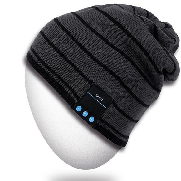Rotibox Bluetooth Beanie Hat Unisex Winter Cap with Wireless Stereo Headphone Earphone Speaker Mic Hands Free Compatible with iPhone Samsung Android