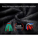 Wantdo Men's Waterproof Mountain Jacket Fleece Windproof Ski Jacket US XL  Black XL