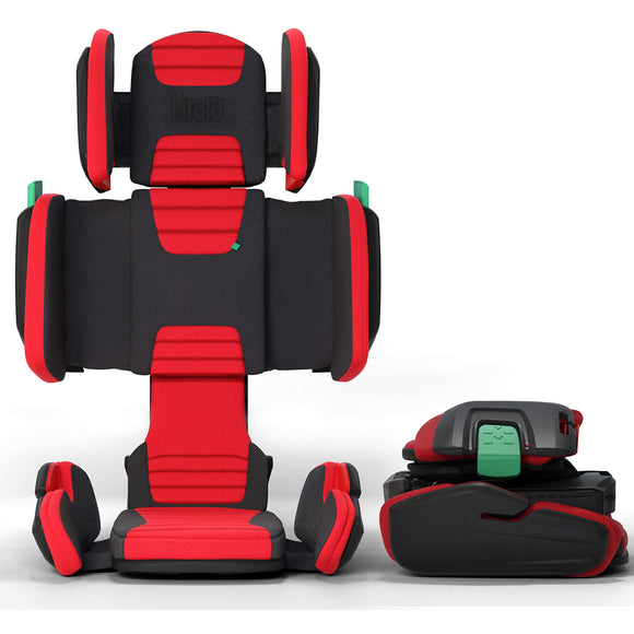 Hifold Fit-and-Fold Highback Booster Car Seat (Racing Red)