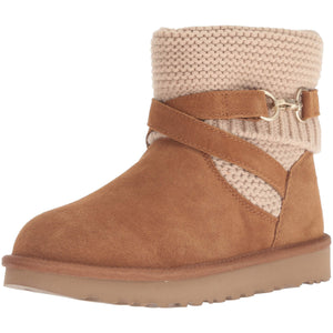 UGG Women's W PURL STRAP BOOT Fashion, chestnut, 7 M US