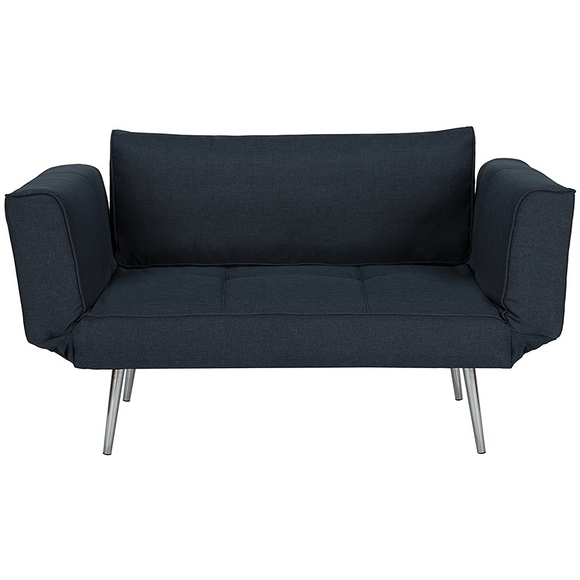 Dhp Euro Sofa Futon Loveseat With Chrome Legs And