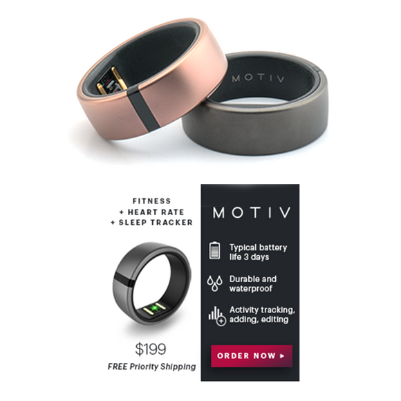 Motiv Ring Fitness, Heart Rate and Sleep Tracker