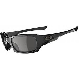 Oakley Men's Fives Squared OO9238-04 Rectangular Sunglasses, Polished Black, 54 mm