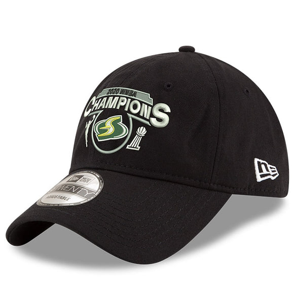 Seattle Storm New Era 2020 WNBA Finals Champions 9TWENTY Adjustable Hat - Black