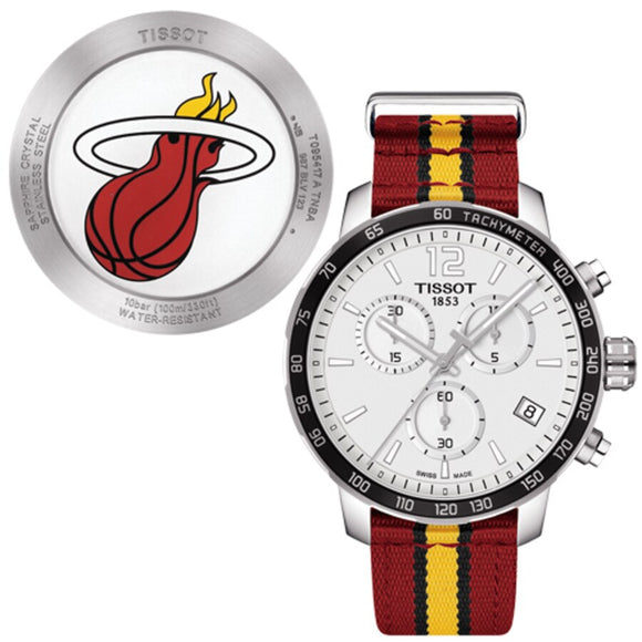 Miami Heat Tissot Quickster Quartz Chronograph - Red