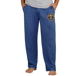 Denver Nuggets Concepts Sport Quest Knit Lounge Pants - Navy