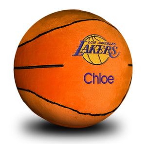 Los Angeles Lakers Personalized Plush Baby Basketball - Orange
