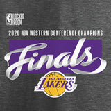Los Angeles Lakers Fanatics Branded 2020 Western Conference Champions Locker Room T-Shirt - Heather Charcoal