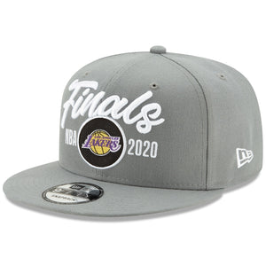 Los Angeles Lakers New Era 2020 NBA Finals Bound Locker Room 9FIFTY Snapback Adjustable Hat - Gray