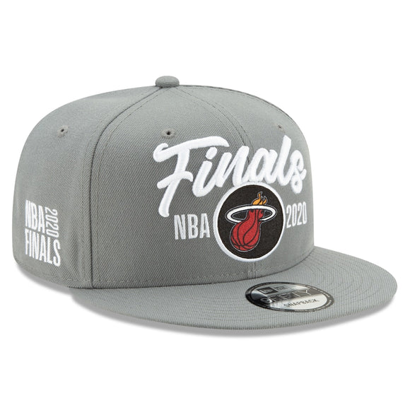 Miami Heat New Era 2020 NBA Finals Bound Locker Room 9FIFTY Snapback Adjustable Hat - Gray