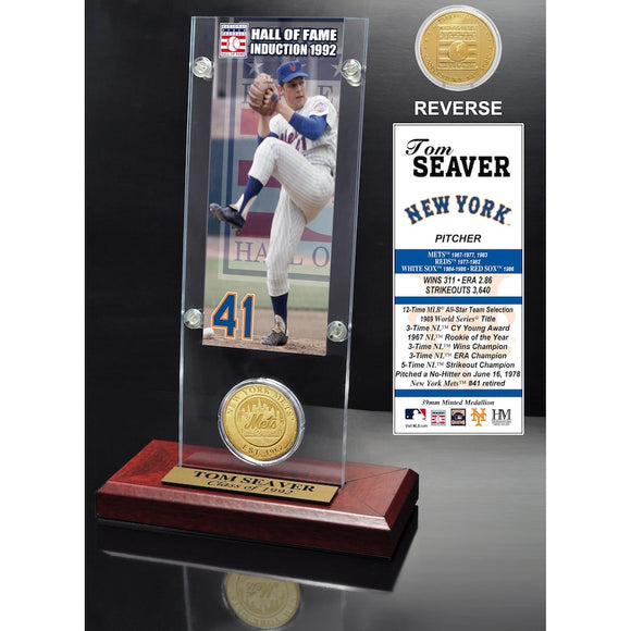 New York Mets Tom Seaver Hall of Fame Ticket & Coin